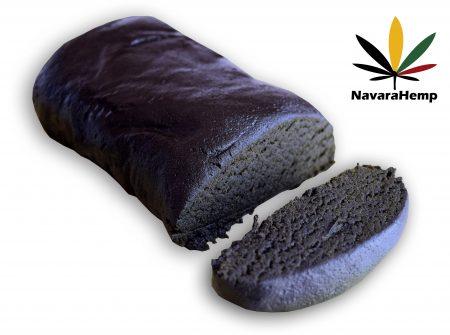 Black sticky 17% CBD hash - Nepal Cream CBD hashish Resin trichomes